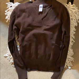 Gap brown v-neck sweater